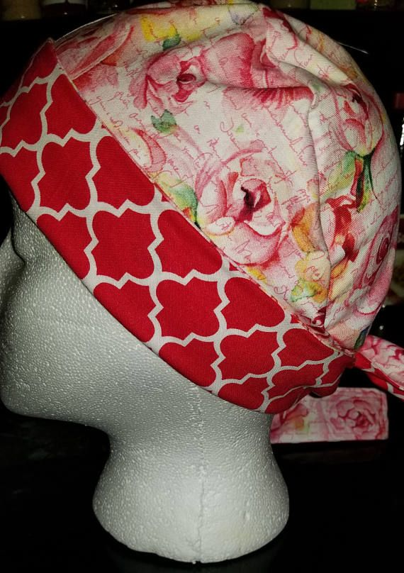 Check out this item in my Etsy shop https://www.etsy.com/listing/526029216/womans-scrub-hat-with-tie-back
