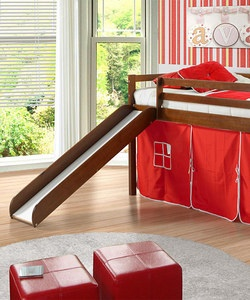 Twin loft bed and slide, for if Eli has his own room while he's still small enough.