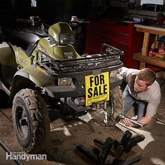 Buy a Used ATV: Your Buying Guide   Buying a used ATV can save you thousands over the price of a new model. But a low price is a good price only if the entire rig checks out. Here's how to conduct the inspection. http://www.familyhandyman.com/automotive/buy-a-used-atv-your-buying-guide/view-all