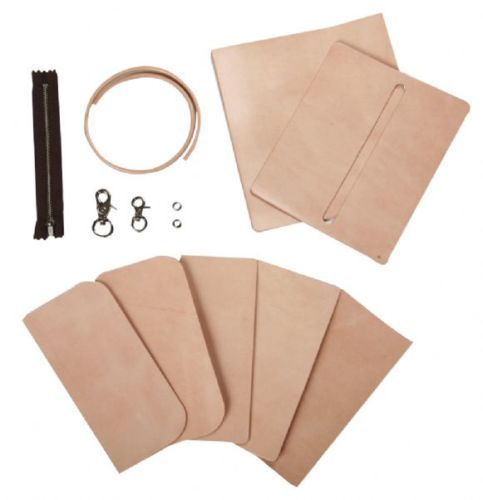 Craft-Sha-LeatherCraft-De-Cuero-Largo-Biker-Monedero-Billetera-Kit-natural-de-bronceado