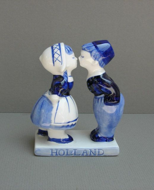 Vintage Delft Figurine Dutch Boy and Girl by DelectablyVintage I have this in my little girls bedroom