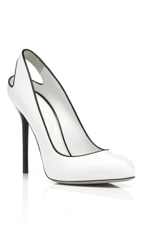 Sergio Rossi Kaleido Pumps.  Black and white is big for spring 2013.