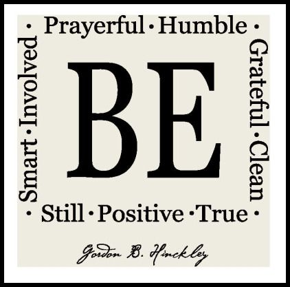 Be Attitudes - Vinyl Only-be attitudes, Pres. Hinckley sayings, lds, vinyl, tile vinyl, religious sayings,