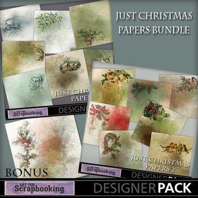 Just Christmas Papers Bundle