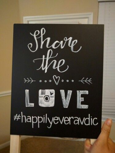Chalkboard Instagram wedding sign. hashtag i DIY!  Wedding decorations, lettering (pm me if you want me to make one for you)