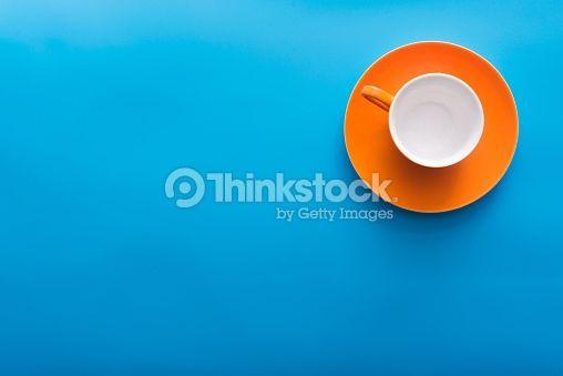 Stock Photo : empty orange coffee cup