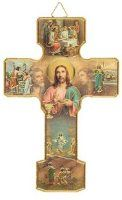 Last Supper Cross Wall Plaque.