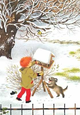 Gerda Muller - Feeding Birds in Winter