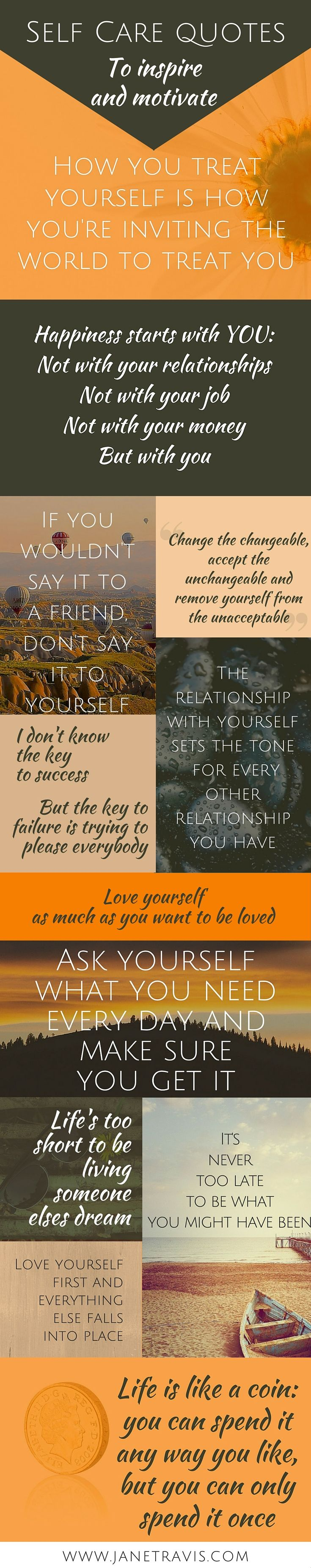 What makes a good inspirational quote? Here are self care quotes to motivate & inspire you to love youself and practice self acceptance