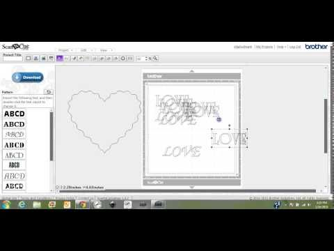 Brother ScanNCut shaped words by Jen Blausey - YouTube