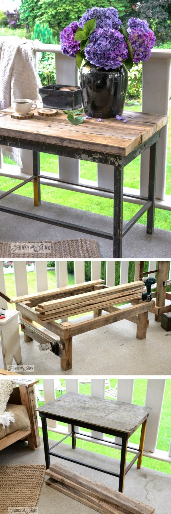Check out how to make a DIY wooden outdoor table from 2x4s @istandarddesign