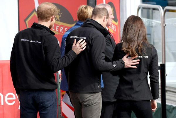 Kate Middleton Photos Photos - Prince Harry, Prince William, Duke of Cambridge and Catherine, Duchess of Cambridge after cheering on runners at the start of the 2017 Virgin Money London Marathon on April 23, 2017 in London, England.  The Royals are spearheading Heads Together, in partnership with eight leading mental health charities, that are tackling stigma, raising awareness, and providing vital help for people with mental health problems. - The Duke & Duchess of Cambridge and Prince…