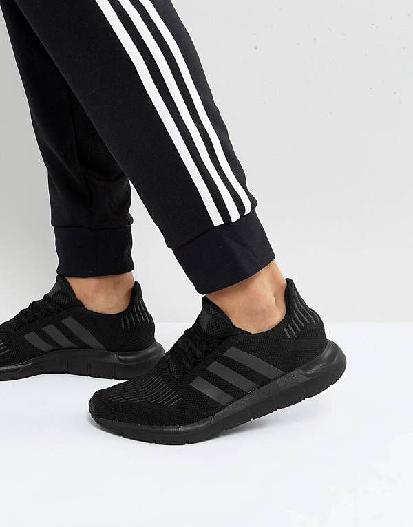 adidas Originals Swift Run Sneakers In Black CG4111  3a3fe2bcbe
