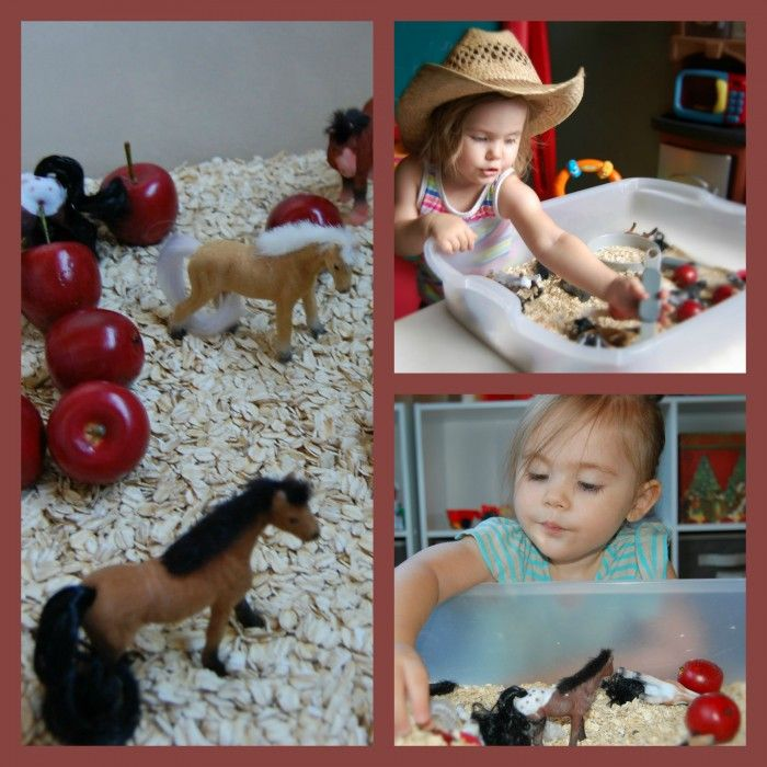 Tot School for Twos: Horse Play Sensory Bin | Simple. Home. Blessings
