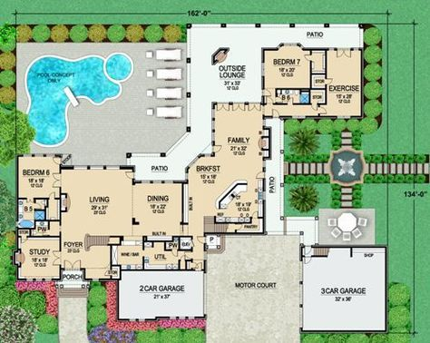 First Floor 2 image of Featured House Plan: BHG - 5163