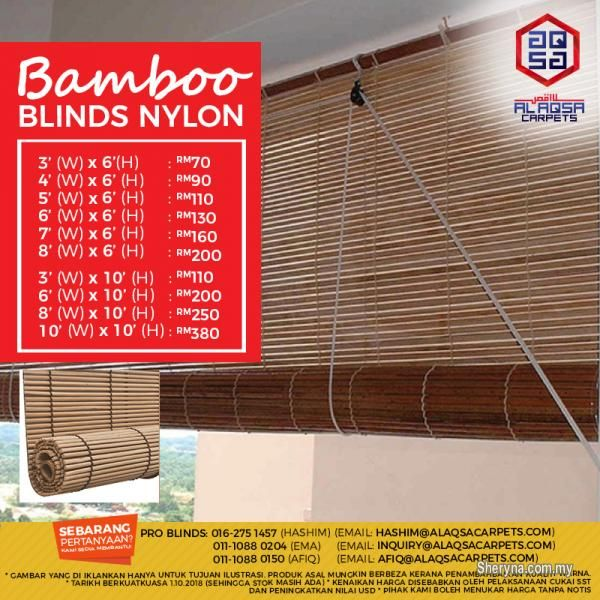 Other For Sale Rm70 In Klang Selangor Malaysia Best Seller Bamboo Blinds Malaysia Affordable Prices And Qualit Bamboo Blinds Commercial Flooring Blinds