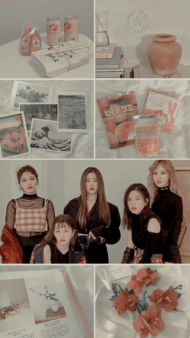 Red Velvet Aesthetic Reblog If You Save Use Please Open Them To Get A Full Hd Lockscreen Do Not Repost Edi Velvet Wallpaper Red Velvet Kpop Wallpaper