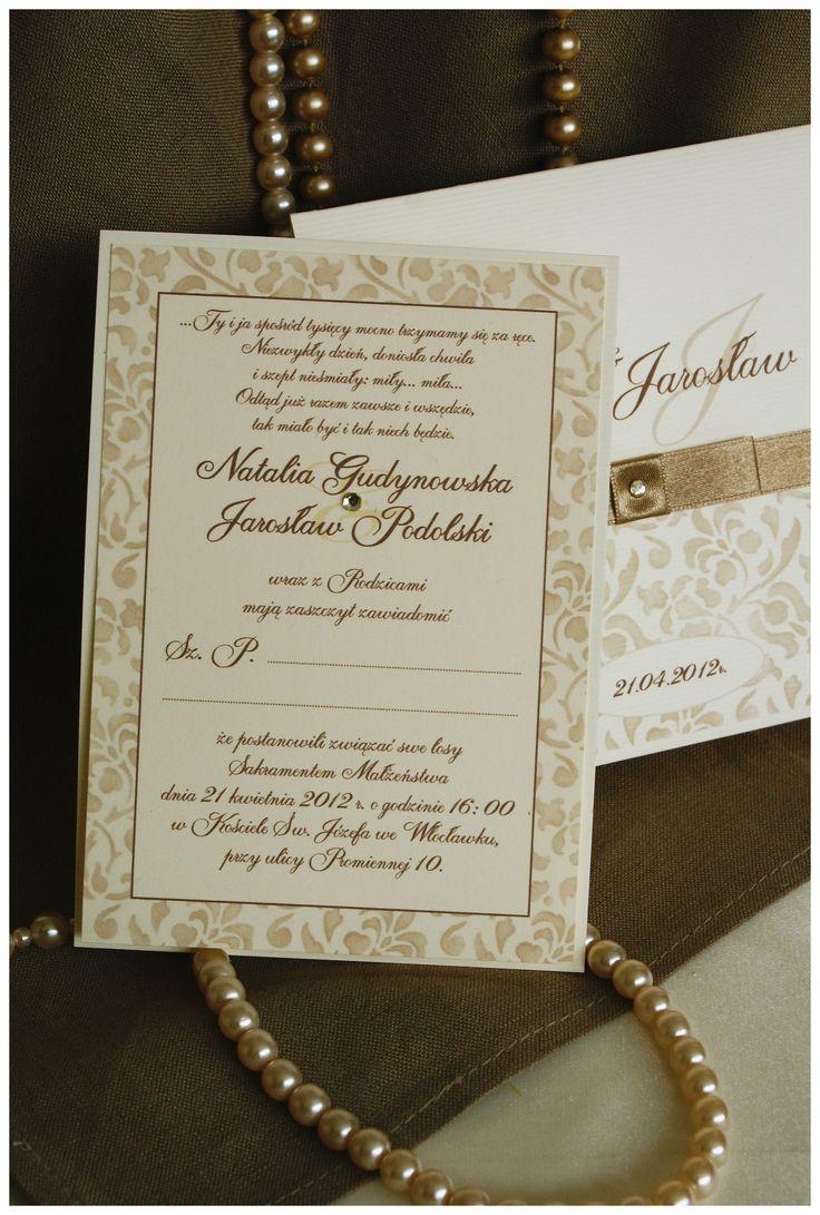 Zawiadomienia do kolekcji ślubnej Marakesz