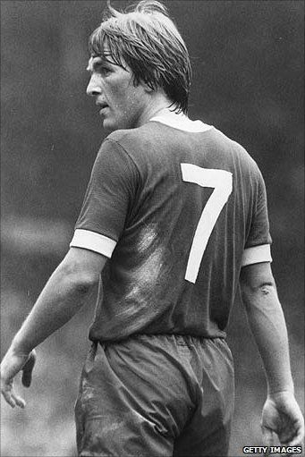 Kenny Dalglish playing for Liverpool in 1977