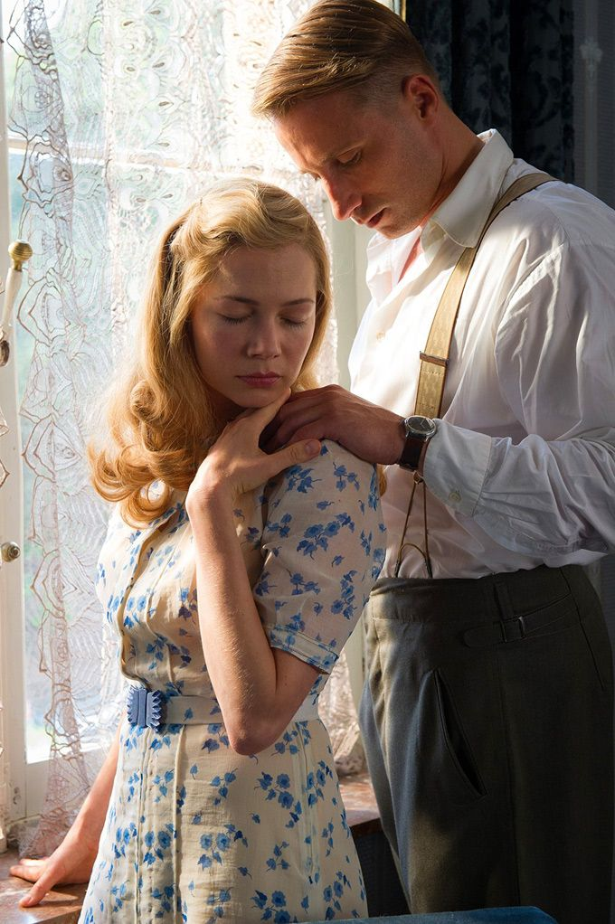 Michelle Williams and Matthias Schoenaerts in Suite Française, 2015.