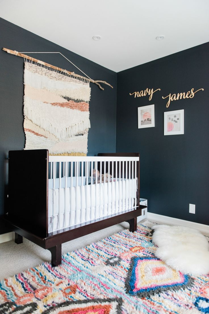 photographer : jillian rose photography Read More on SMP: http://www.stylemepretty.com/living/2016/08/29/see-what-crazy-cool-baby-name-inspired-this-nurserys-paint-color/