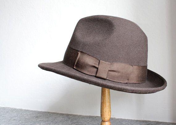 FEDORA Hat // Vintage italian hat // Brown felt hat by LaSartoria, €40.00