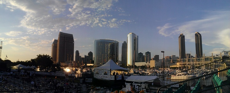 View from the Embarcadero, where the San Diego Symphony does its Summer Pops series!