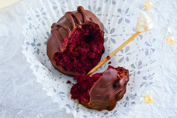 Red velvet truffles. These super-easy chocolate bites are devilishly good and right on trend.