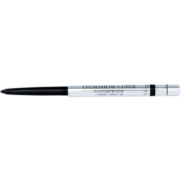 DIOR Diorshow Backstage Stylo Waterproof Eyeliner CARBON 098 ❤ liked on Polyvore featuring beauty products, makeup, eye makeup and eyeliner
