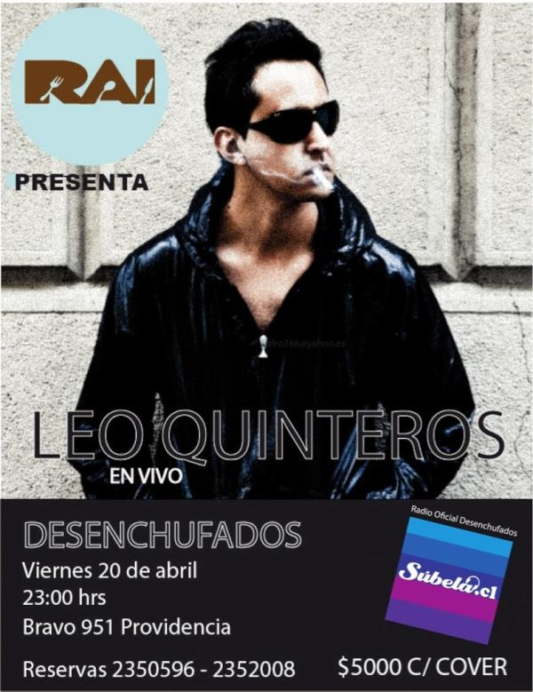 Hoy Leo Quinteros desenchufado en RAI http://www.productonacional.cl/leo-quinteros-desenchufado-en-rai-20-de-abril