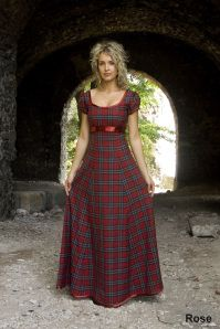 Rose Scottish Wool Tartan Plaid Wedding Dress Scotland