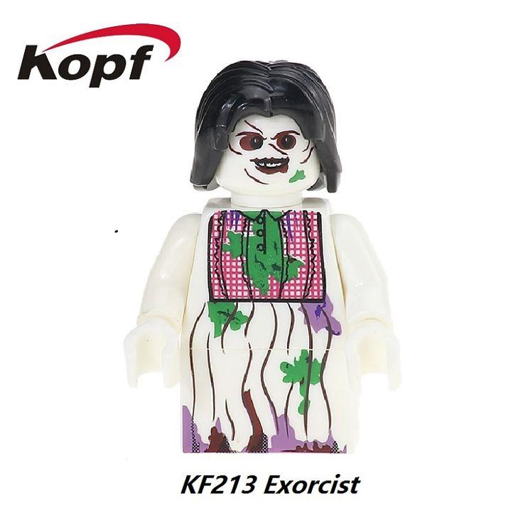 20Pcs KF213 The Horror Theme Movie Exorcist Candyman Jack Skellington Jeepers Creepers Bricks Building Blocks Children Gift Toys #Affiliate