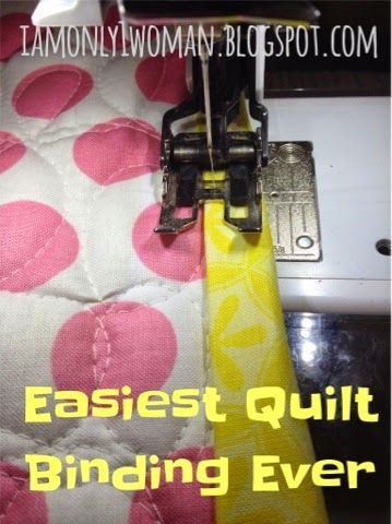 Easiest Quilt Binding Method EVER! Binding a Quilt with Clear Thread