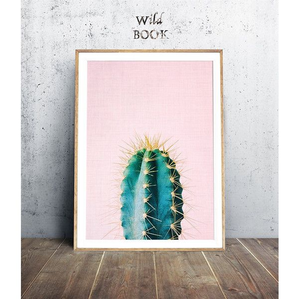 Cactus Print, Pink Cactus, Tropical Print, Plant Print, Succulent... ($6.21) ❤ liked on Polyvore featuring home, home decor, wall art, boho style home decor, pink wall art, bohemian posters, welcome wall art and friends poster