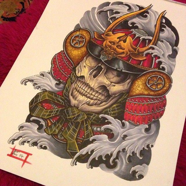 Last drawing of 2014 :-) #cosmictattoo #colchester #colchestertattooist #essex #essextattooshop #samurai #samuraitattoo #warrior #warriortattoo #skull #skulltattoo #samuraihelmet #japaneseart #japaneseink #japanesewater #japanesesleeve #japanesetattoo #japanesetattooart #tattoodesign #tattoo