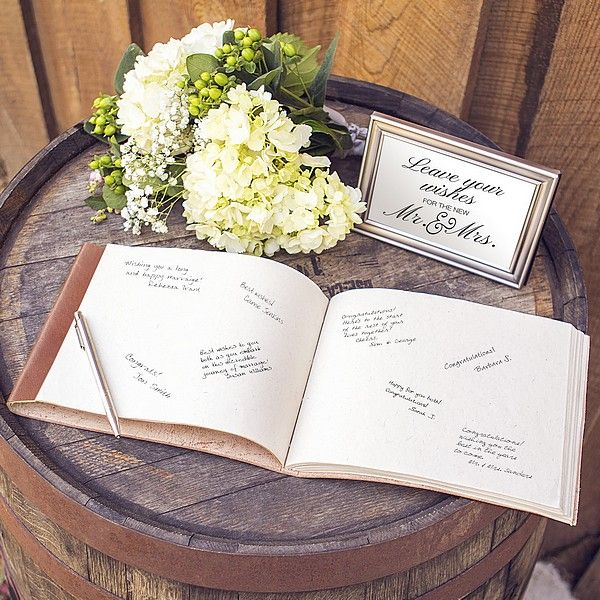 An Exceptional Alternative To The Traditional Wedding Guest Book This Journal Style Sch Bound