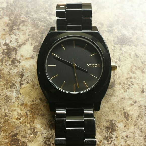Nixon Jewelry - Black and gold accent Nixon women's watch