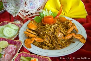 Mie Aceh or Aceh Noodle - A spicy noodle with crab from Aceh province, Indonesia