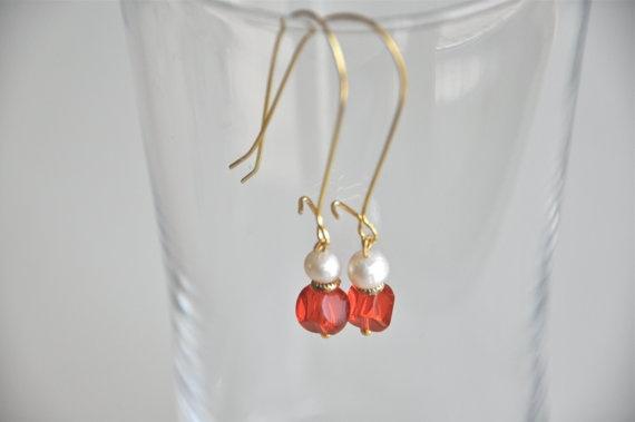 bright jewelry blue earringsbright jewelry modern by hobilium, $15.00
