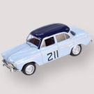 SIMCA ARONDE - Thomas - Delliére - 1959     A. Thomas e J. Dellière possuíam todos os trunfos para vencer o Rallye Monte-Carlo de 1959 com um modesto Simca Aronde P60. No entanto, na última noite, na prova de regularidade nocturna, acabaram por ser batidos por Paul Coltelloni e pelo seu Citroën ID 19.