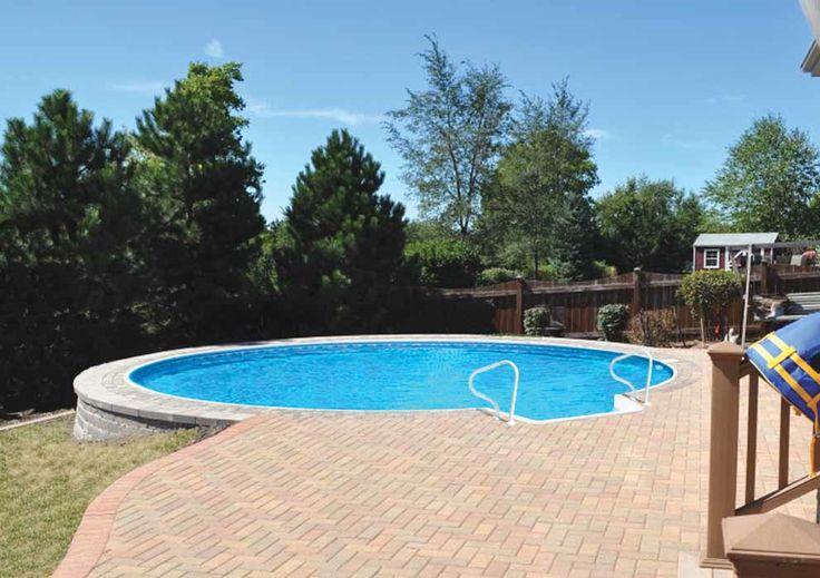 Best 25 Semi Inground Pools Ideas On Pinterest Semi Inground Pool Deck Small Inground Pool