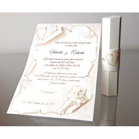 Invitación de boda en caja elegante y original