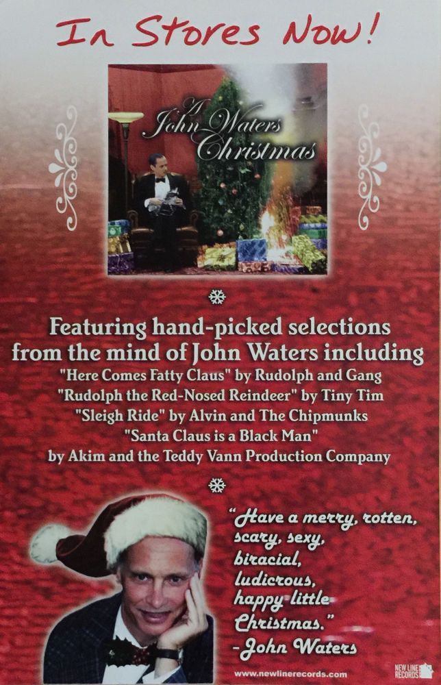 John Waters Christmas poster New promo only   My Favorites ...