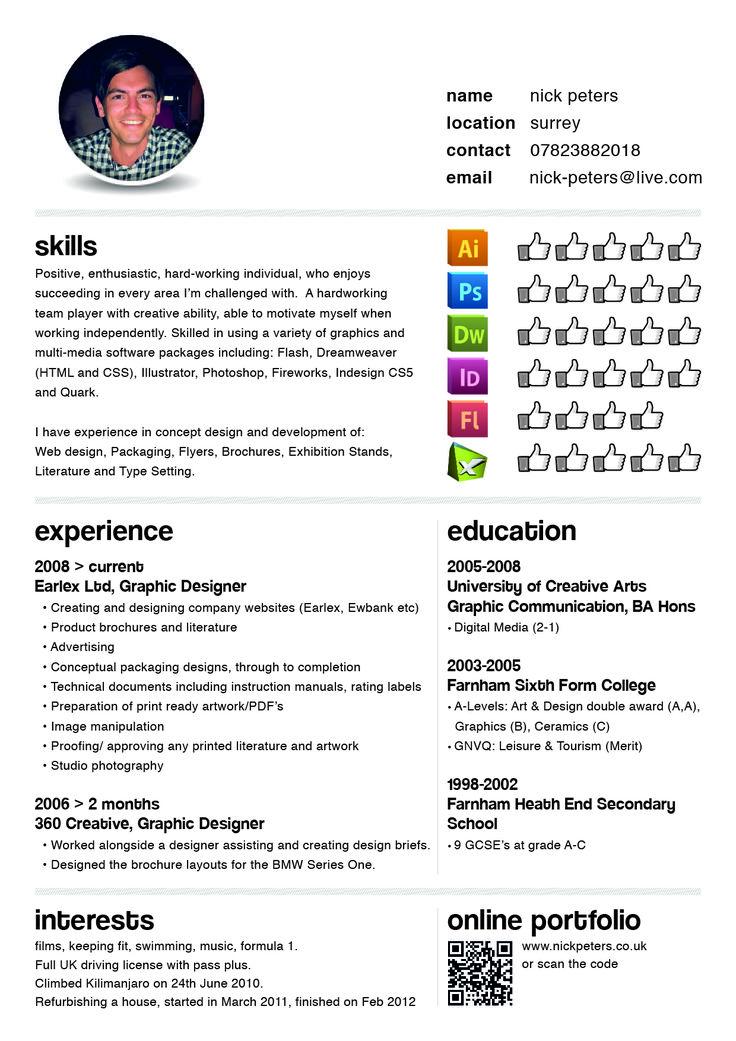 16 best Graphic Design CV Inspiration images on Pinterest Books - freelance graphic design resume
