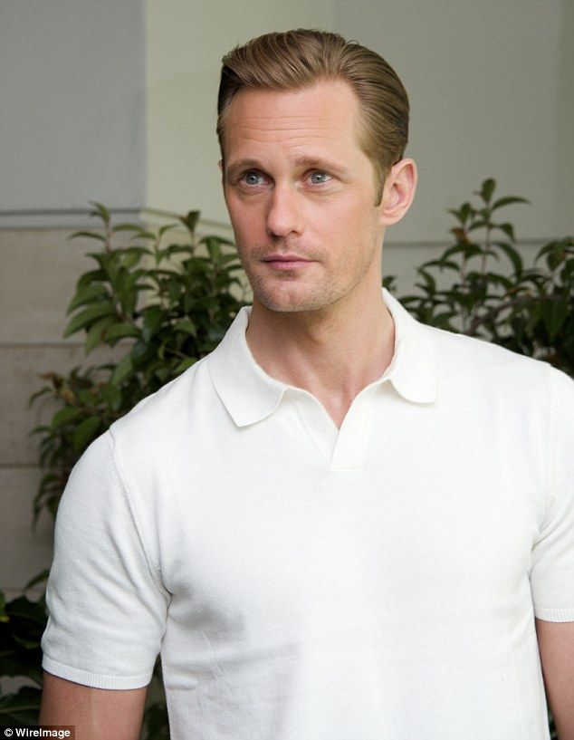 The real Tarzan: Alexander Skarsgard looked typically dapper in a form-fitting white polo ...