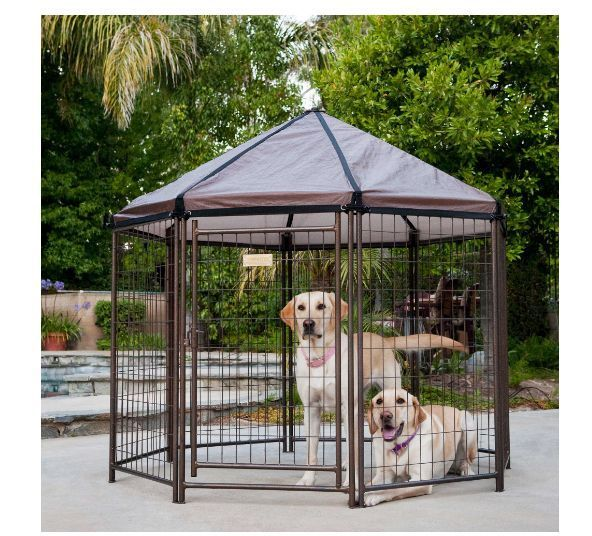 Portable Dog Kennel Pet Gazebo Animal Cage Cover Fence Shelter House Outdoor Pen #Advantek