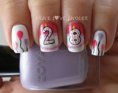 Birthday Nail Art (+flash giveaway 3/27/13 only)