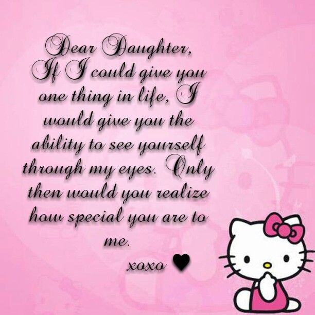 Daughter In Love Quotes: #Daughter #Mom #Quotes #Sayings #HelloKitty