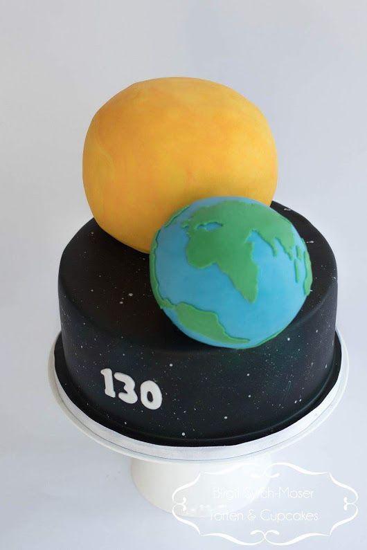 Outer Space Birthday Cake Universe Earth and Sun - Birgit Syrch-Moser Torten & Cupcakes e.U. - Google+