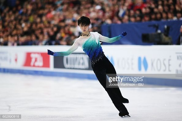 News Photo : Yuzuru Hanyu of Japan competes in the Men's Free...